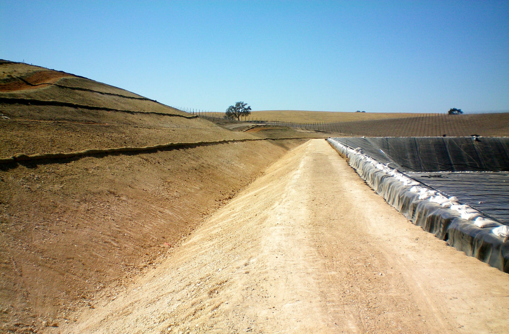 International Lining Technology's project in Justin Vineyards in California.