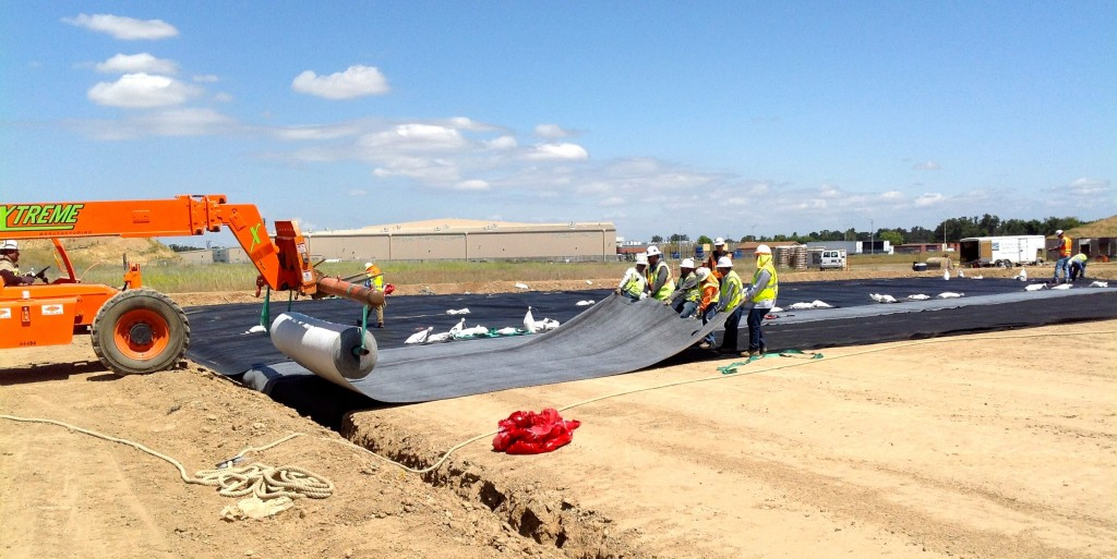 International Lining Technology crews work on the McClennan Air Force Base project in 2015.
